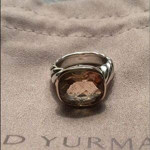 David Yurman Noblesse 14mm Morginite Two Tone Ring